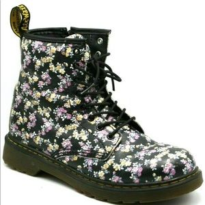 Dr.Marten Women Delaney Floral Ankle Boot Side Zip